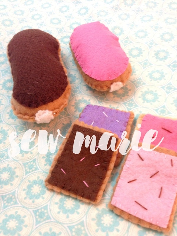 Felt Eclairs and Biscuits from SewMarie
