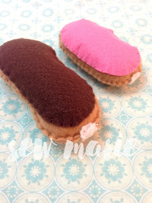 Felt Eclairs from Sew Marie