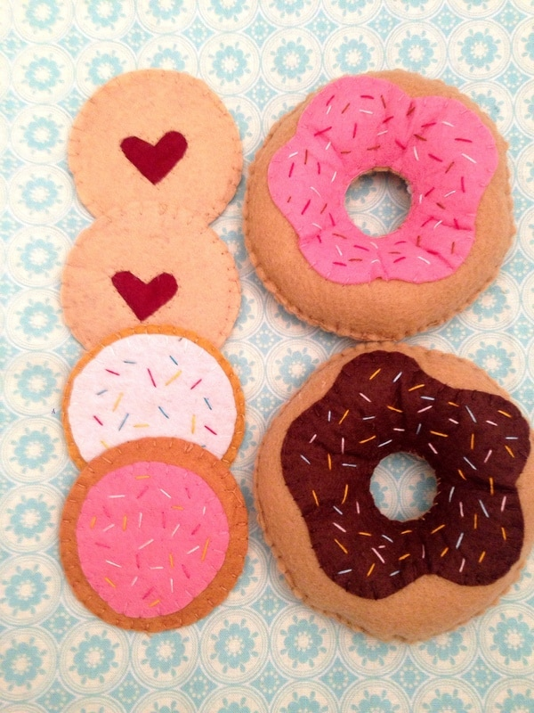 Felt donuts and cookies for tea parties