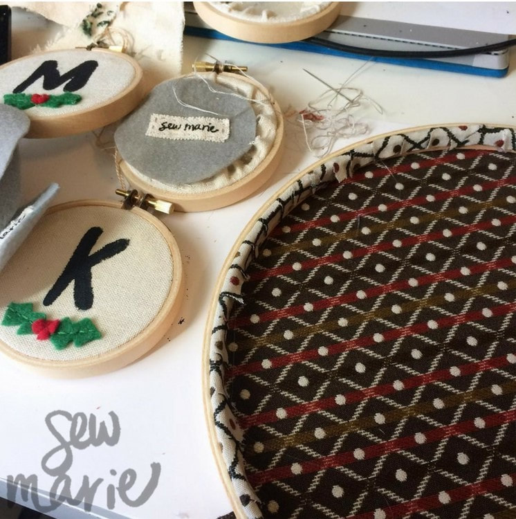 Holiday Monogram Ornaments from Sew Marie